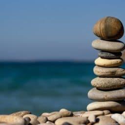 pile of rocks balancing