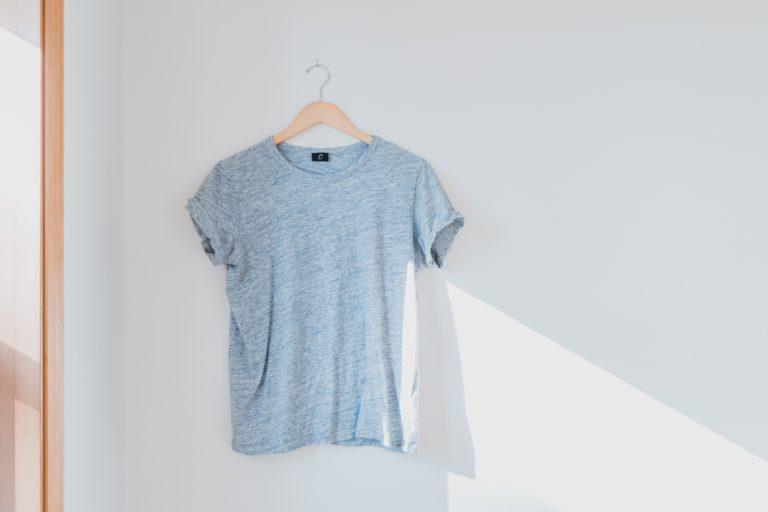 T shirt on a hanger
