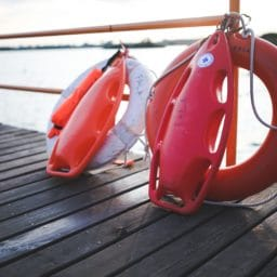 Two Lifebuoys on a dock