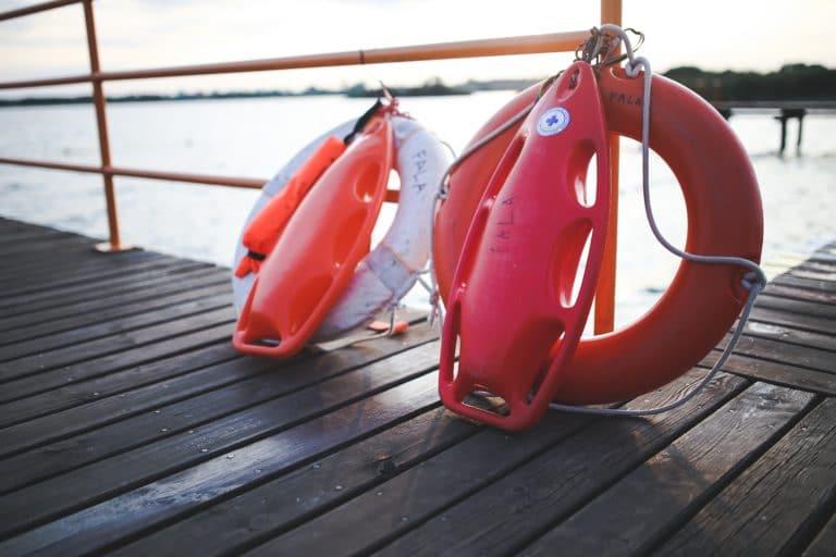 Two Lifebuoys on a dock