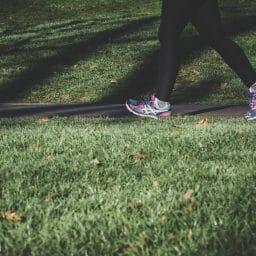 Woman jogging outside